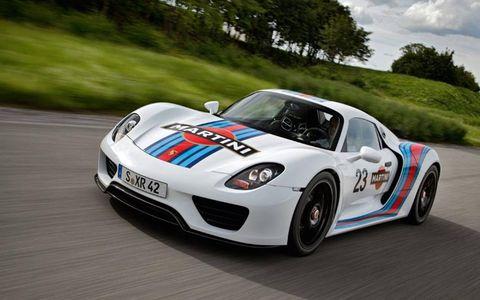 The Martini Porsche 918 Spyder testing.