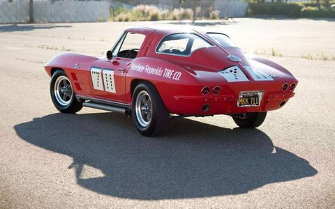 A race-ready 1963 Covette Sting Ray would be a nice way to tide yourself over until the dealer delivers your new C7.