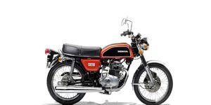 A 1975 Honda CB200.