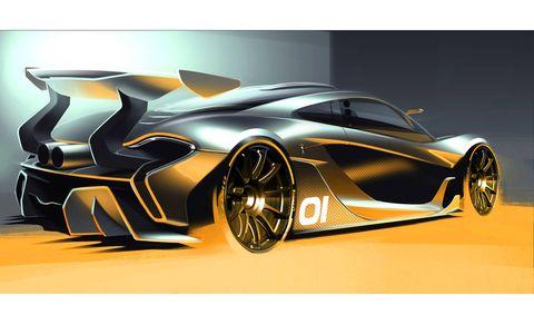 McLaren P1 GTR Concept design sketch.
