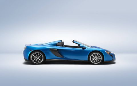 The MSO 650S Spider is based of the MSO 650S that was unveiled at Goodwood a month earlier.