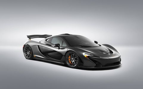 Carbon fiber accents along with a Sterling gray paint job make this one sinister looking P1.