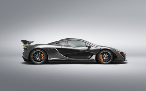 McLaren Orange accents are abundant on the exterior of this bespoke P1.