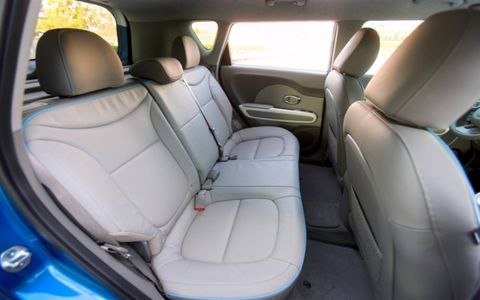 Two interior seating materials will be offered:  Standard eco-friendly cloth or optional leather.