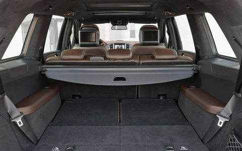 The 2013 Mercedes GL offers ample cargo room and can seat seven.