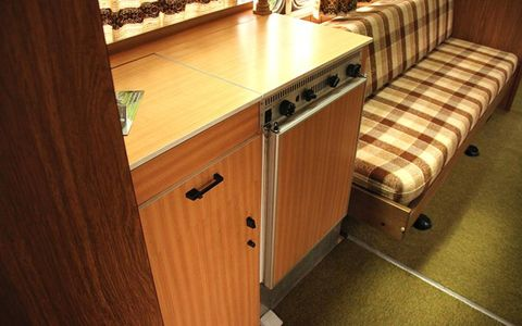 Even a kitchenette can be found inside.