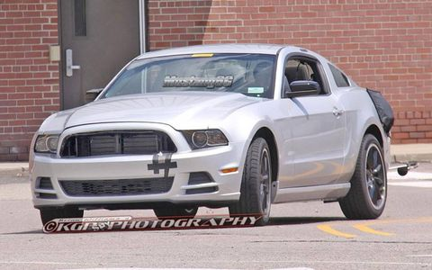 The exterior hasn't change, but this alleged 2015 Ford Mustang test mule is all about the chassis.
