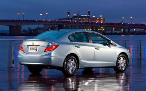 The 2012 Honda Civic Hybrid is a good option for drivers who don't want a vehicle that looks outwardly like a hybrid.