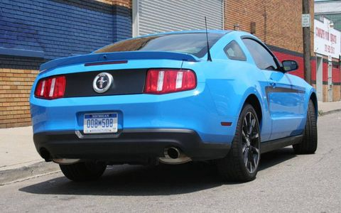 AutoWeek's Grabber Blue 2011 Ford Mustang V6, a cruiser's dream