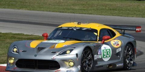 The SRT Viper made it on-track debut Thursday at Mid-Ohio.
