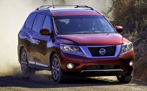 The 2013 Nissan Pathfinder goes on sale in October.