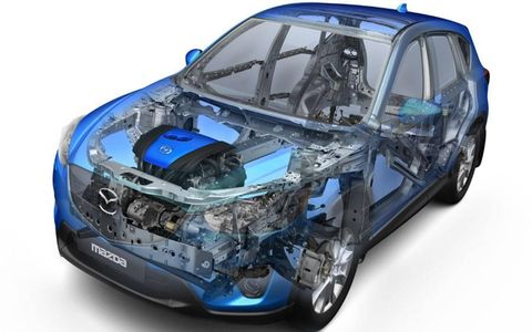 A see through shot of the Mazda CX-5