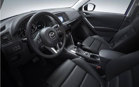 Interior and instrument panel of the Mazda CX-5