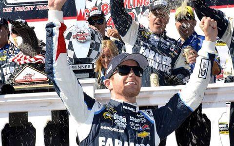 Kasey Kahne won Sunday's Sprint Cur race at Pocono.