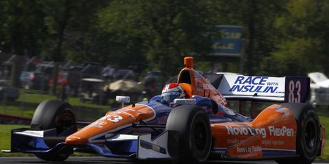 Charlie Kimball won the first IndyCar race of his career at Mid-Ohio.