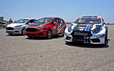 Mild to wild. Middle car is what you'll drive at Miller Motorsports Park if you buy a Fiesta ST.