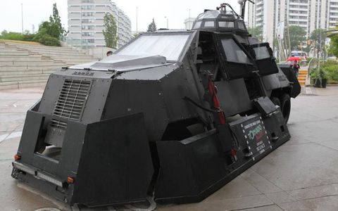 Underneath the skin of the TIV-2 is a Ram pickup.