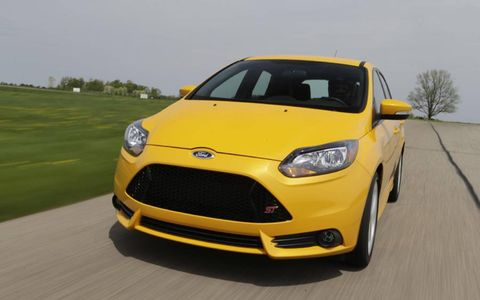 The 2013 Ford Focus ST can tear up the track with a 2.0-liter turbocharged I4.