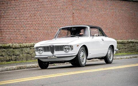 A rare Alfa Romeo Giulia Sprint GTC from 1966.