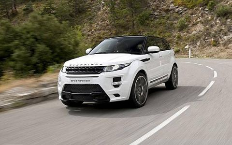 The Overfinch Evoque GTS sports a mean looking body kit.