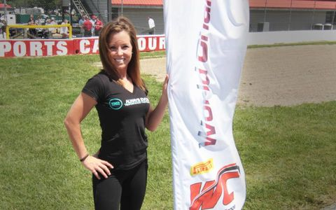 Could a call-up to Formula One be that far off for any of the grid girls who worked the Pirelli World Challenge race at Mid-Ohio?