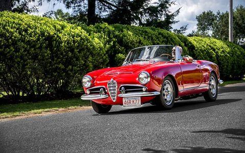 A nicely kept Alfa Romeo cabrio.