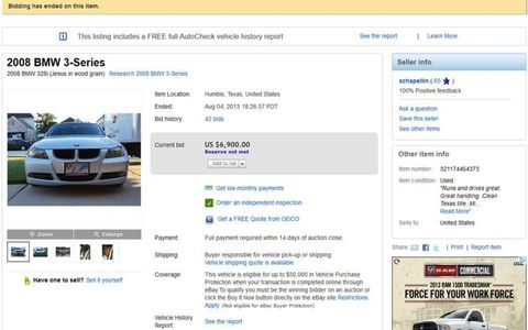 It's a 2008 BMW 3-series, which by itself is nothing special, but maybe it's been touched by the divine?