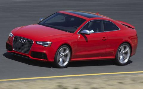 Audi says the RS5 runs to 60 mph in 4.5 seconds.