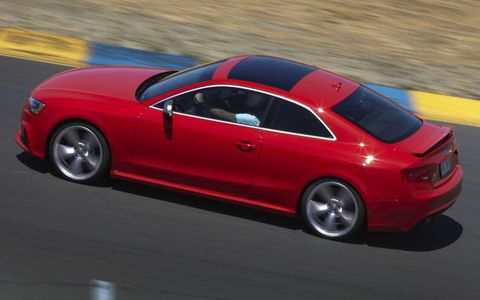 The 2013 Audi RS5 gets 20-inch wheels as an option.