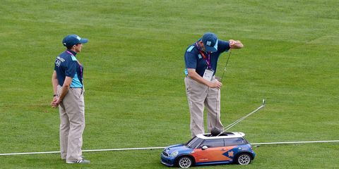 Olympic officials in the U.K. used these mini Minis to haul athletic equipment such as Javelins, discuses and shots back from the field to the throwing area.