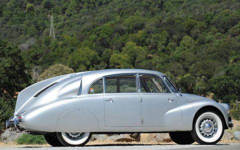 This rare 1941 Tatra T87 Aerodynamic Saloon, which was previously owned by Martin Swig, will be offered by Bonham's.