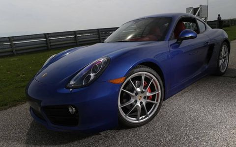 Our test 2014 Porsche Cayman S came with the available aqua blue metallic paint for an additional $710.