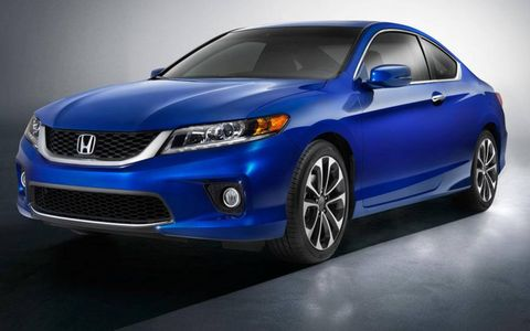 A front view of the 2013 Honda Accord coupe.