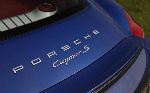 The Porsche badges add the icing on the cake for this 2014 Porsche Cayman S.