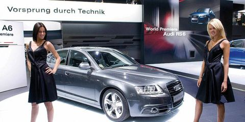 Audi's new A6 gets a public debut in Moscow