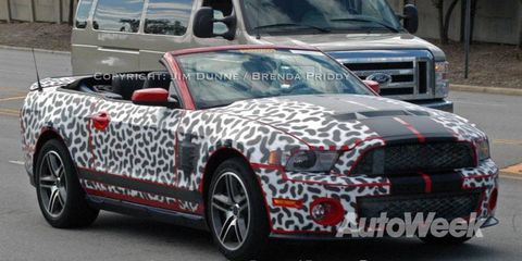 2010 Ford Mustang Shelby GT 500 convertible