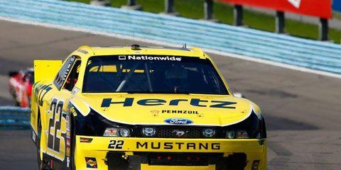 Brad Keselowski won his fourth consecutive NASCAR Nationwide Series start on Saturday at Watkins Glen.