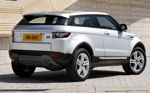 The Range Rover Evoque is offered in a three-door bodystyle.