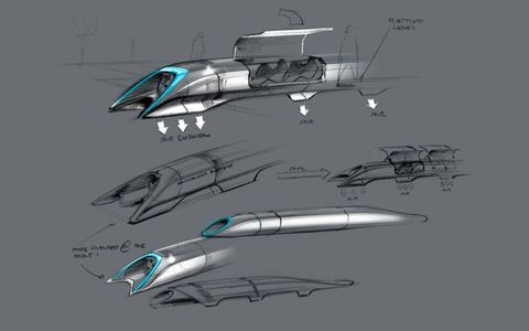 Musk noted that the pod could have a gullwing door. No falcon-wing doors, Elon?