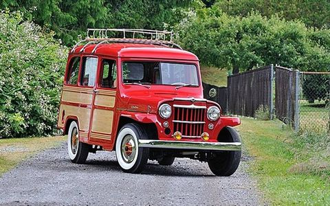 Here's a nice Willys Jeep with a funky interior.