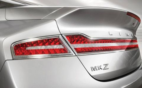 The 2012 rear-end styling of the Lincoln MKZ 3.7