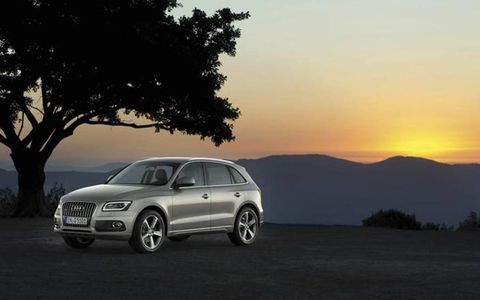 The 2013 Audi Q5 3.0 TFSI Premium Plus is equipped with a 3.0-liter supercharged V6, cranking out 272 hp and 295 lb-ft of torque.