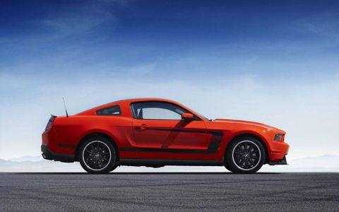 The new 2012 Boss Mustang
