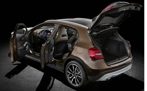 A look at the 2015 Mercedes-Benz GLA with the doors open