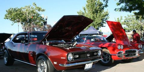 1968 Camaro SS on display during Hot August Nights in Reno.