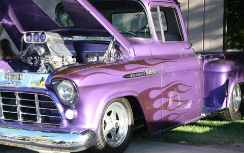 Hot-rod pickup trucks were common during Hot August Nights in Reno.