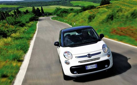 The L's chrome moustache, as the Italians call it, and rounded headlights give it a familiar Fiat face, but other views are less distinctive.