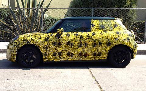 The 2015 Mini Cooper will shed its camo in November at the LA Auto Show.