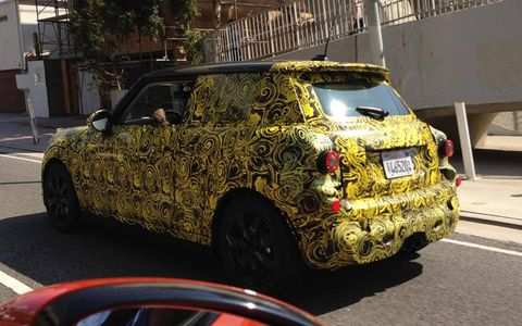 Engines? The Mini is rumored to get a new three-cylinder shared with BMW.
