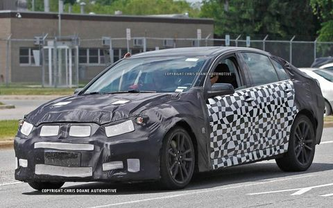 These 2014 Chevy SS spy shots surfaced online Wednesday.